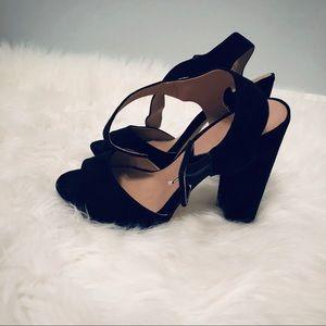 Mix No. 6 Shoes - ~Mix no. 6~ black heels open toed w/ strap S: 7.5